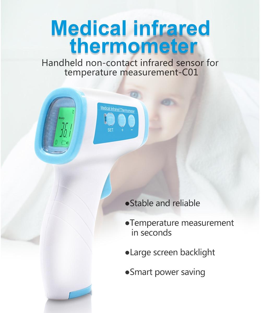 Бесконтактный термометр для тела, цифровой инфракрасный термометр для лба, портативный термометр для детей/взрослых