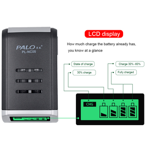 Image 4 - PALO 4 Slots Smart LCD Display Charger For AA/AAA NiMH NI CD Rechargeable Battery Intelligent AA AAA Battery Charger