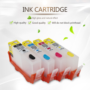 4 pcs/set Refillable Ink Cartridges 655 Empty for HP 3525 4615 4625 5525 Deskjet with Permanent Chips on high quality image