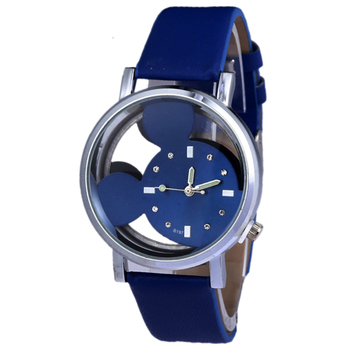 New product launch Anime children's watch Transparent hollow cute alloy dial kids watches girls boys clock quartz child watch