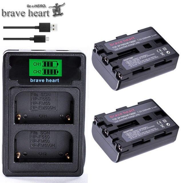 CARICABATTERIE Micro USB per SONY NP-FM30 FM50 FM55H FM70 FM71 FM90