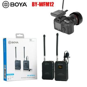 Image 5 - BOYA BY WFM12 12CH ไร้สาย VHF ไมโครโฟนไร้สายไมโครโฟนระบบตัวรับสัญญาณสำหรับกล้อง DSLR Canon Camcorder