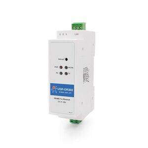 USR-DR302 Din Rail Serial RS485 to Ethernet TCP IP Server Module Ethernet Converter Modbus RTU to Modbus TCP unit(China)