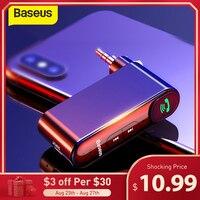 Baseus AUX Auto Bluetooth Empfänger 3,5 MM Jack Audio Musik Bluetooth 5,0 Car Kit Drahtlose Freihändige Lautsprecher Bluetooth Auto Stereo