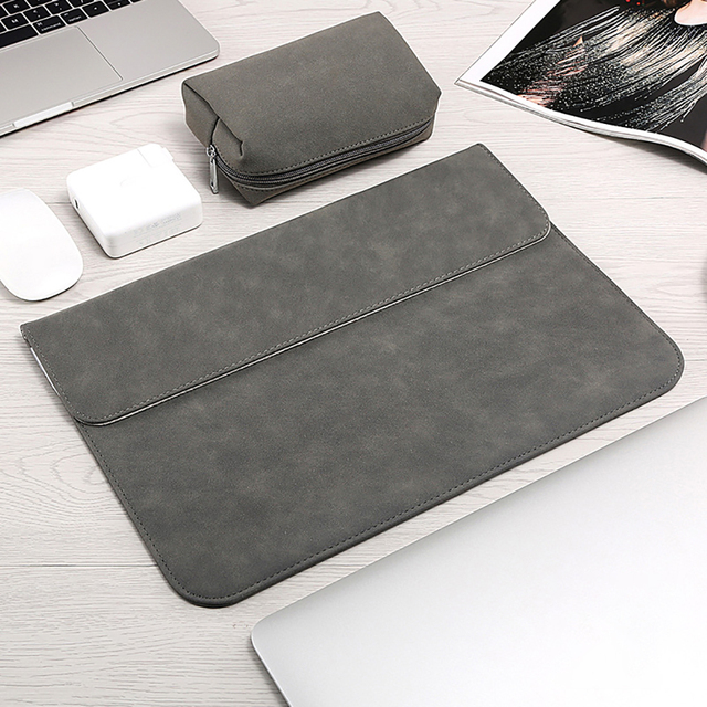 Matte Soft Laptop Sleeve Bags Case For Apple Macbook Air 13 11 Retina 15 13 12 inch,cover for 2019 new Pro 16 With power pack