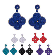 KPacTa New Design Soutache Handmade Pendant Earrings Retro Ethnic Style Jewelry Womens Fine Gift