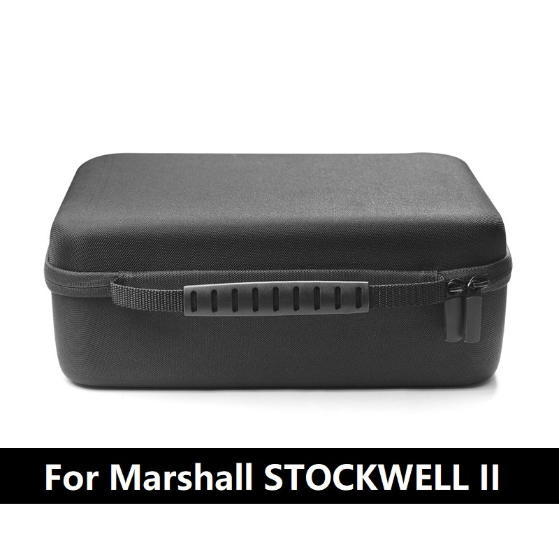 High Quality Nylon Portable Hard Black Case Bag Cover For MARSHALL Stockwell 2 Generation Speaker