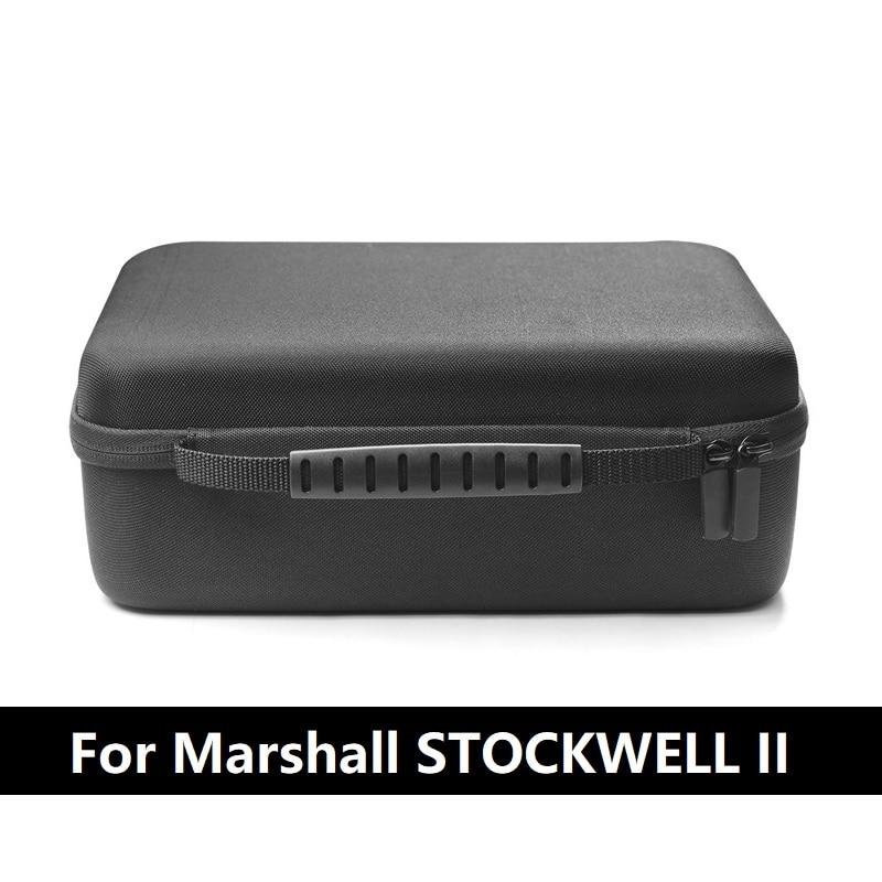 High Quality Nylon Portable Hard Black Case Bag Cover For MARSHALL Stockwell 2 Generation Speaker