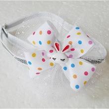50 Pz/lotto di Pasqua Cane Bello Del Cane del Coniglio Cravatte Nastro Papillon Collari di Festa Accessori Per Animali Domestici