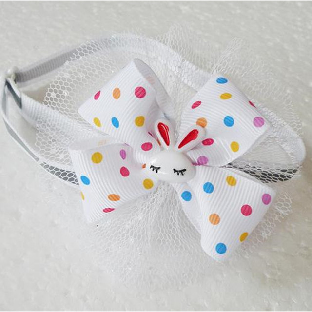 50 sztuk/partia wielkanocne mucha dla psa krawaty piękny królik pies krawaty wstążka muszki obroże wakacje akcesoria dla zwierząt