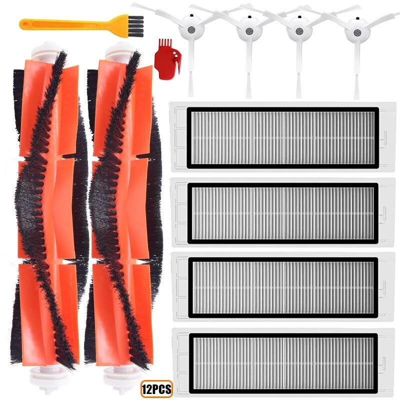 4 HEPA Filter + 4 Side Brush + 2 Main Brush For Xiaomi MI Robot Vacuum 2 Roborock S50 Vacuum Cleaner Parts Accessories