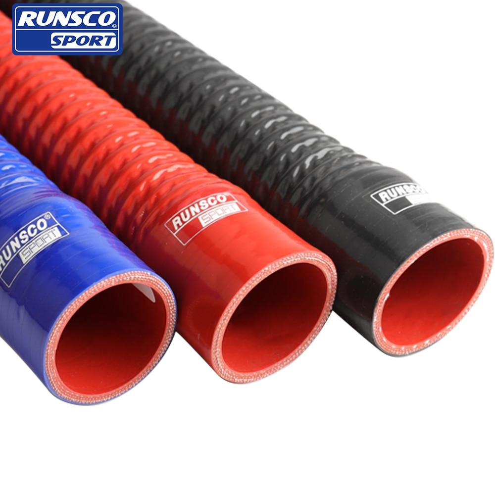 Tubo de silicona flexible para radiador de agua tubo para toma de aire alta presión alta temperatura junta de goma ID 51 57 63mm L 500mm