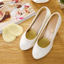 1 Pairs Half Insoles Comfortable Leather Bottom Latex Anti Slip Breathable High Heel Shoes Pad  Woman Shoes Pads недорого