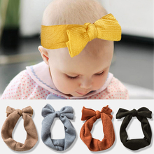 Bowknot Baby Headband Elastic Turban Hair Band Bows Kids Baby Girl Headbands Hair Bands For Girls Hair Accessories Hair Band sunlikeyou baby headband butterfly girls embroidery hair bands for girls kids headbands turban newborn baby hair accessories