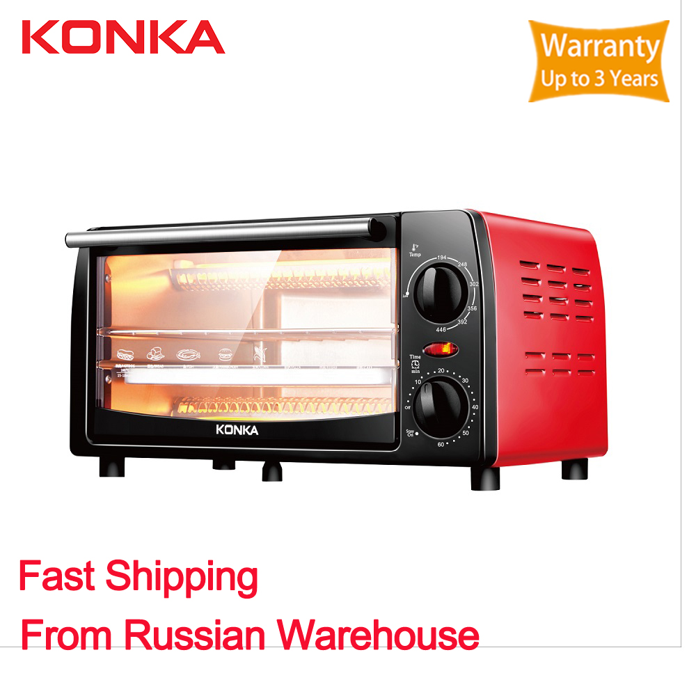 KONKA Mini Oven 12L Electric Recessed brass Electric Range Oven electric built-in Household appliances for kitchen(China)