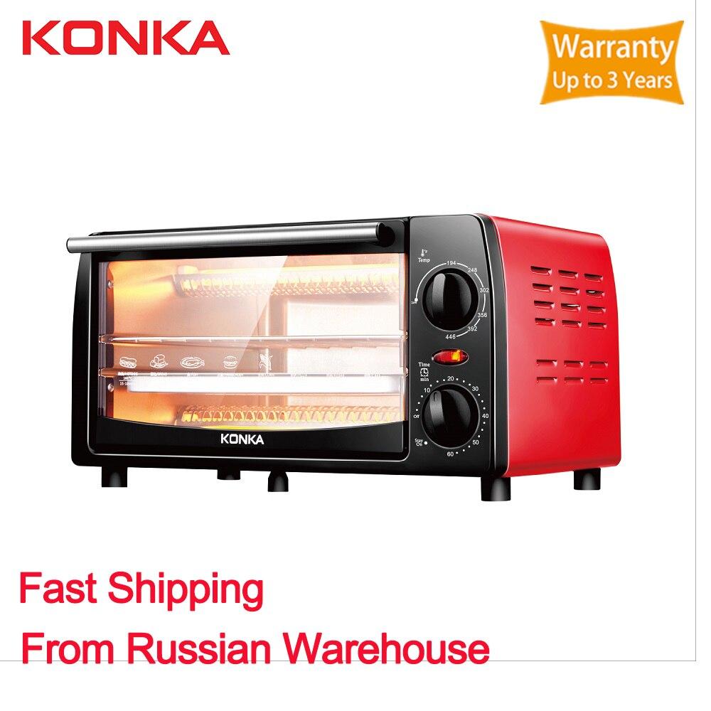 KONKA Mini horno 12L eléctrico de latón empotrado de rango eléctrico horno eléctrico incorporado electrodomésticos para cocina