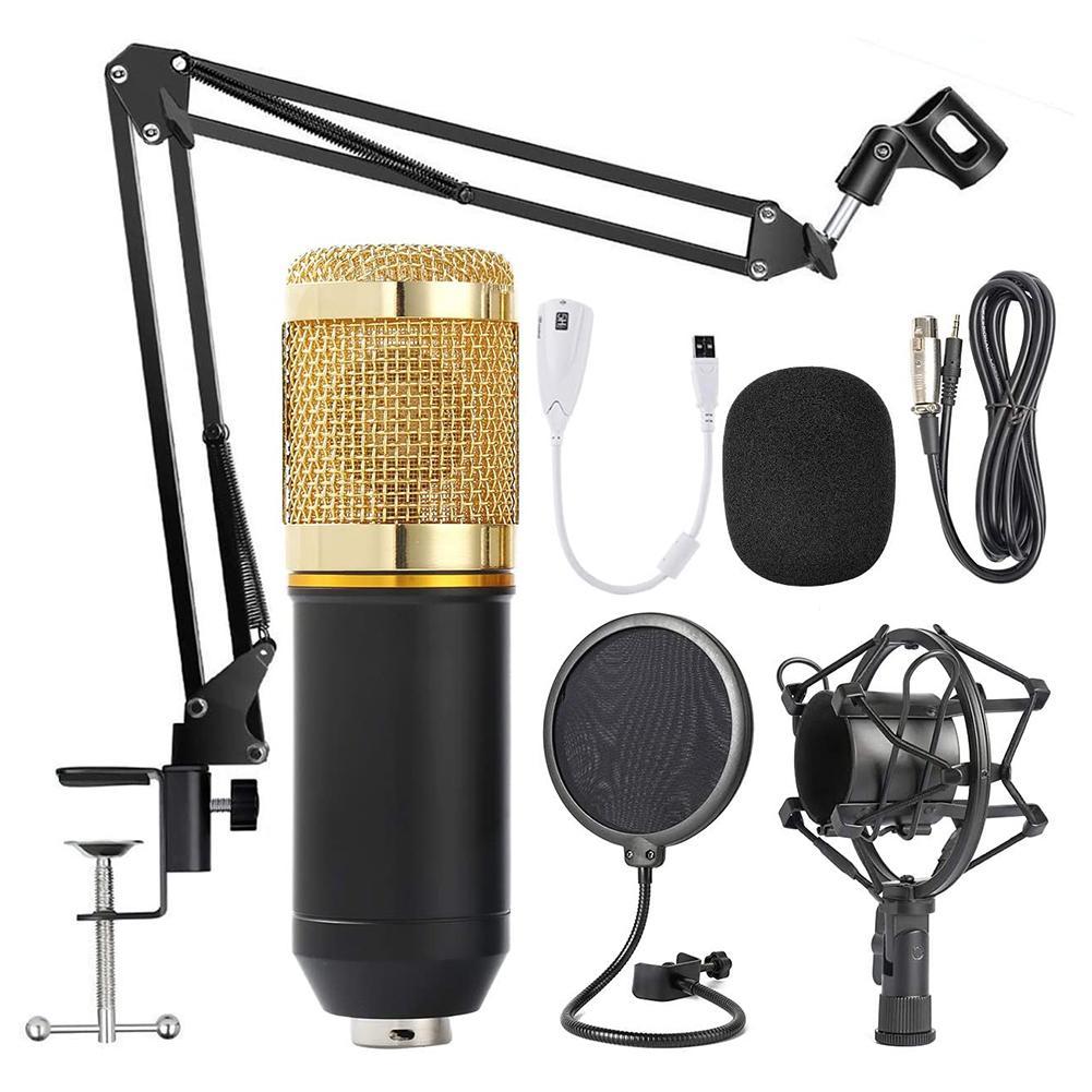 BM 800 микрофон для караоке BM800 Студийный конденсаторный микрофон Bm-800 для KTV радио Braodcasting пения Запись компьютер