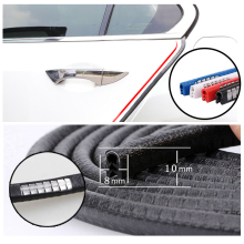 Car Door Protector Side Edge Auto Rubber Seals Door Strip Anti Collision With Steel Bumper  Edge Scratch Protector Car Styling 4pcs car door edge anti collision strip bumper protective guard bar protector l9bc