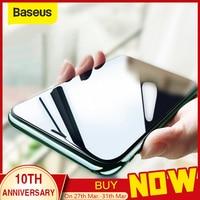 Baseus 0.23mm protetor de tela para iphone xs xr xs max 2018 vidro protetor cobertura completa vidro temperado para iphone x anti espião|Protetores de tela de telefone| |  -