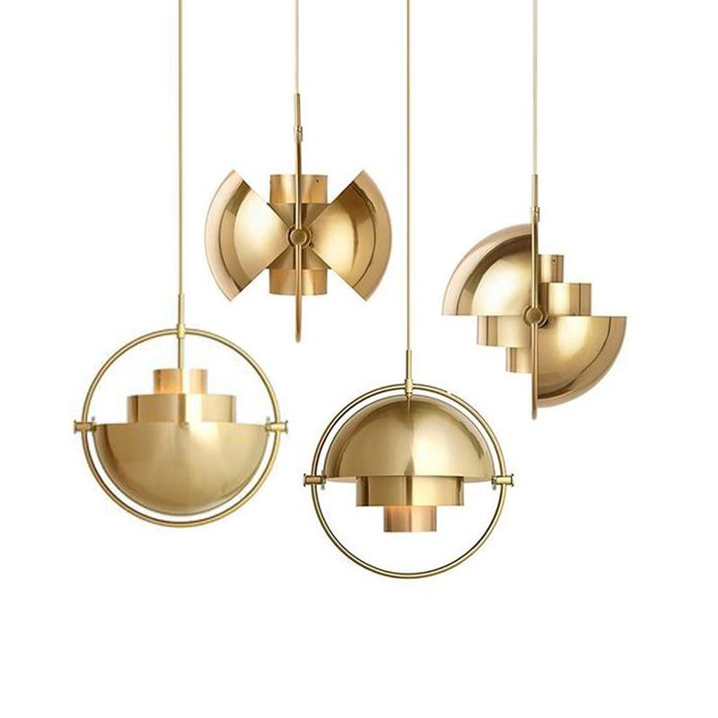 Creative Ball Chandelier For Living Dining  Kitchen Bedroom Bedside Window Gold Bronze Beetle Deformation Bar Hanging Lamps