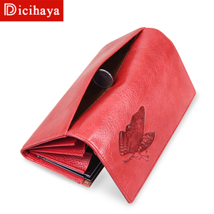 Image 4 - DICIHAYA Women Leather Wallet Long Purse Phone Pouch Butterfly Embossing Wallet Female Coin Purse Card Holders Carteira Feminina