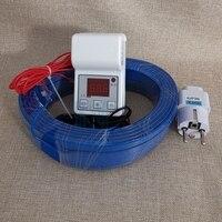 Cable de calefacción + controlador de temperatura, conjunto de invernadero, interior cálido aire de calefacción, línea de calor del suelo, Cable de calefacción para guardería