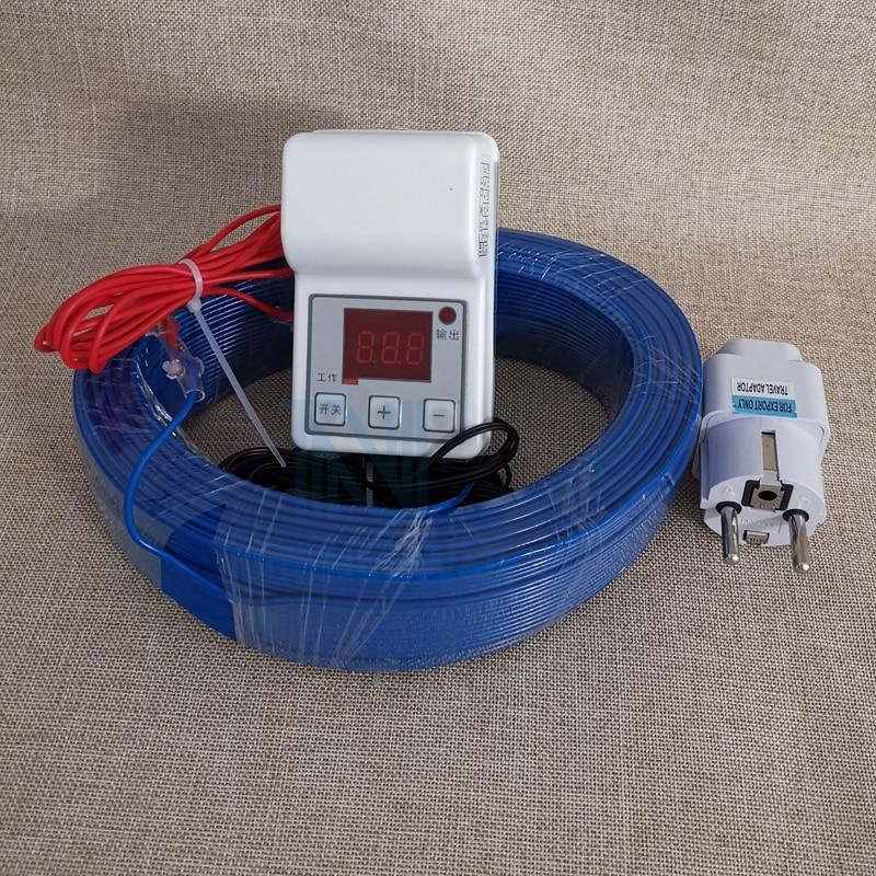 Heating Wire+Temperature Controller Set Greenhouse Warm Underfloor Heating Air Hotline Soil Warming Heating Cable Nursery