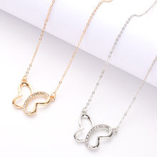 Fashion Jewelry Female Pendant Necklace Simple Butterfly Geometric Charm Clavicle Chain Dinner Party