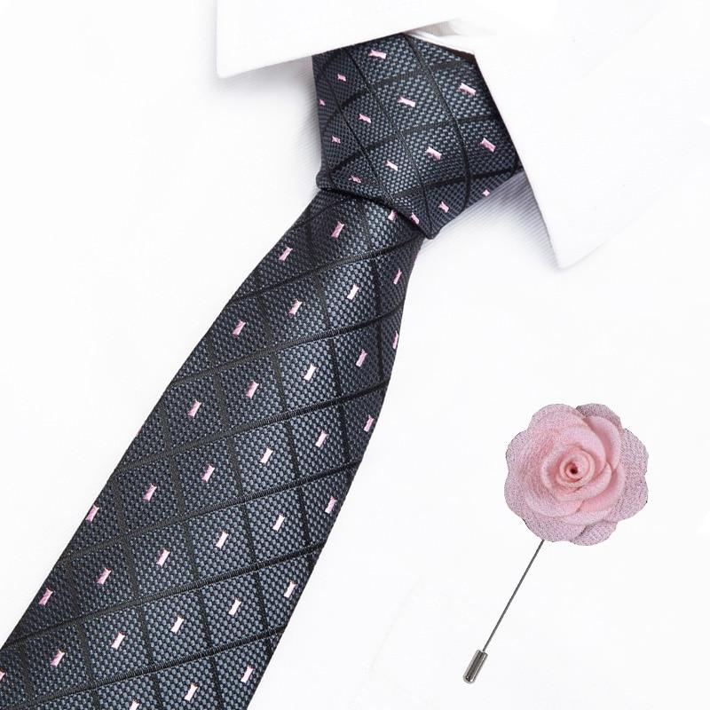 Classic 100% Silk Men's Plaid Ties 7.5cm Neck Ties For Men Formal Business Luxury Wedding Party Neckties