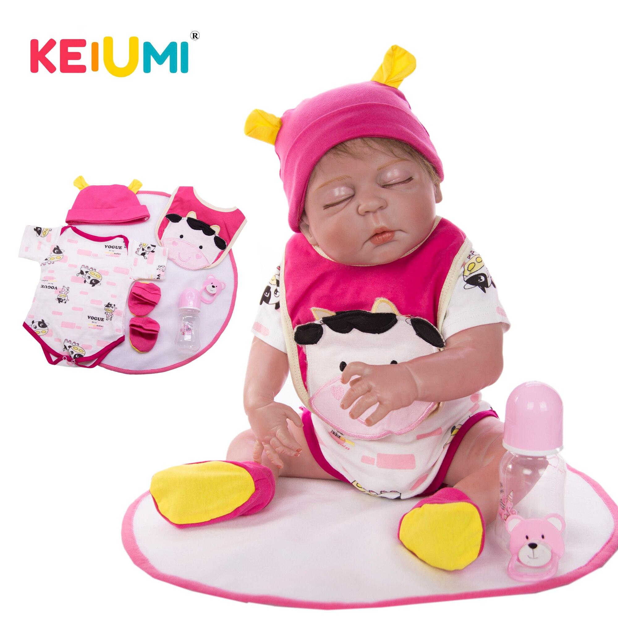 Oyuncaklar ve Hobi Ürünleri'ten Bebekler'de KEIUMI Gerçekçi 23 Boneca Reborn olabilir Uyku 58 cm Tam Silikon Yeniden Doğmuş Bebek Bebek Kız Moda Çocuk Doğum Günü Hediyeleri DIY oyuncak'da  Grup 1