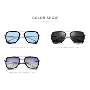 Image 5 - FONEX Pure Titanium Acetate Polarized Sunglass Men Retro Tony Stark Sunglasses New Vintage Edith Sun Glasses for Women 8512