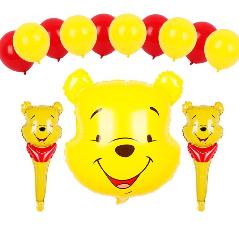 Disney тематическая вечеринка на день рождения украшения Винни-Пух палка шары золотой красный латексные игрушки Игрушки для маленьких мальчиков и девочек