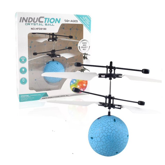 Mini RC Drone Hand Induction Flying Ball Anti-stress LED Light Helicopter Aircraft For Kids