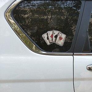 Image 5 - YJZT 15,2 CM * 9,8 CM Cartoon Spielkarten EINE Aufkleber PVC Motorrad Auto Aufkleber 11 00780