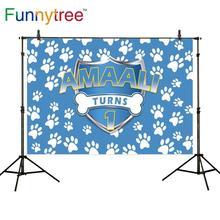 Funnytree מותאם אישית רקע קריקטורה כלב 1st יום הולדת רקע מסיבת photophone ילד תמונה סטודיו צילום photozone