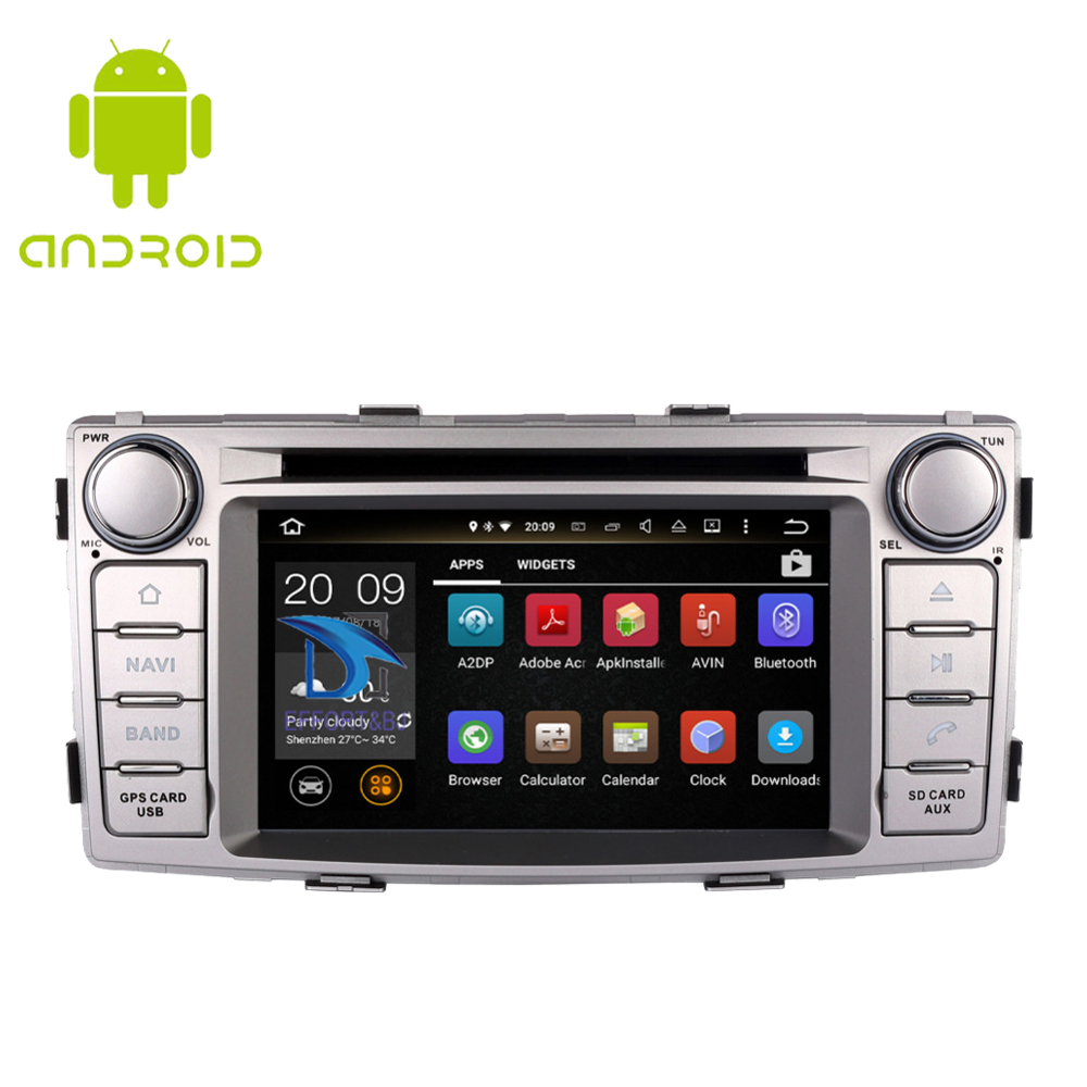Android 9.0 Car GPS Navigation Head Unit For Toyota Hilux 2012 2013 2014 2015 Car radio player Stereo DVD BT Multimedia Player image