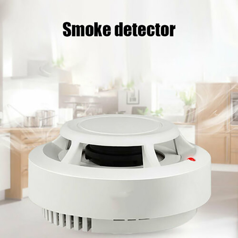 Fire Smoke Sensor Alarm Sensitive Photoelectric Independent Fire Smoke Detector For Home Security Alarm System