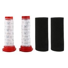 Washable Main Stick Filter + Foam Insert for Bosch Athlet Cordless Vacuum Cleaner (2 of Each)