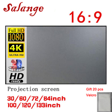 100-120inch Anti-Light-Screen Projector-Screen Salange Outdoor Portable Home 84 72 Ce