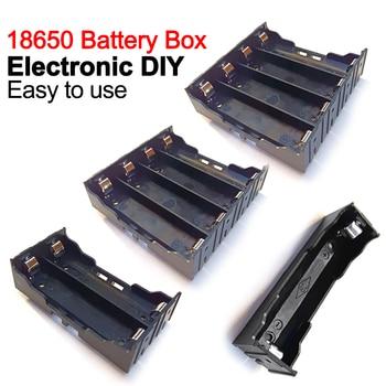 Cajas de Banco de energía ABS 18650, contenedor de baterías de 1, 2, 3 y 4 ranuras, 1x 2X 3X 4X 18650, caja de almacenamiento con Pin duro, novedad 1