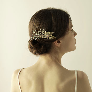 O829 Plum blossom bridal wedding hair comb pearl fashion goody opal hair comb wedding hair accessories недорого