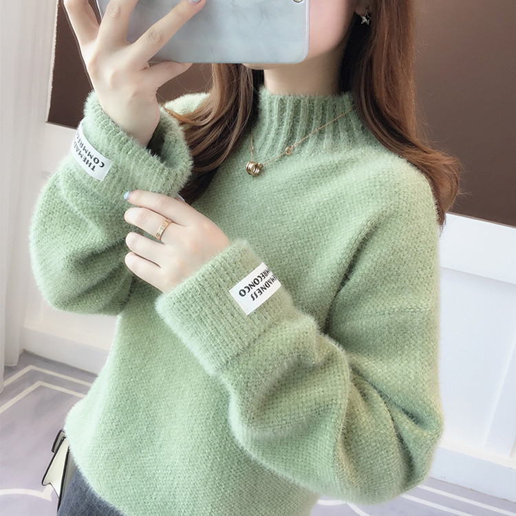 Sweater Women's Autumn Loose Snow, High-necked Turtleneck Padded Outer Wear Knitted Bottoming Shirt Winter Sweater Women