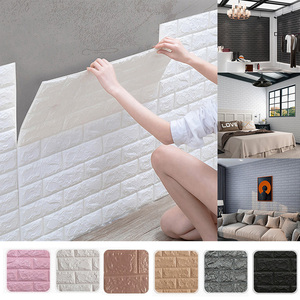 Decoration 3D Brick Wall Panels Peel and Stick Adhesive Wallpaper for Living Room Bedroom Background Kitchen Decoration