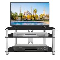 tv stand table living room furniture modern entertainment center monitor flat screen 3 Tier floor cabinet Decoration 43.3''