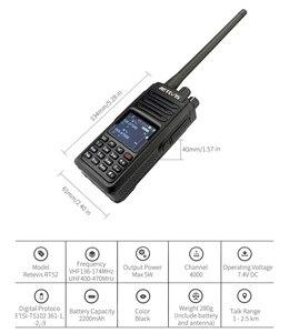 Image 4 - RETEVIS RT52 DMR Radio Digital Walkie Talkie Dual PTT doble banda DMR VHF UHF GPS Radio de dos vías encryted Ham amatner Radio + Cable