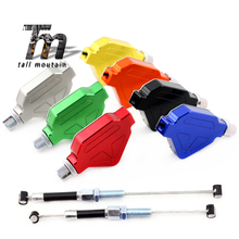 Motorcycle Accessories CNC Aluminum Stunt Clutch Lever Easy Pull Cable System NEW 7 C