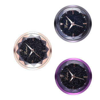 Car Ornaments Clock Auto Electronic Meter Timepiece Universal Interior Decoration Sticker Watch image