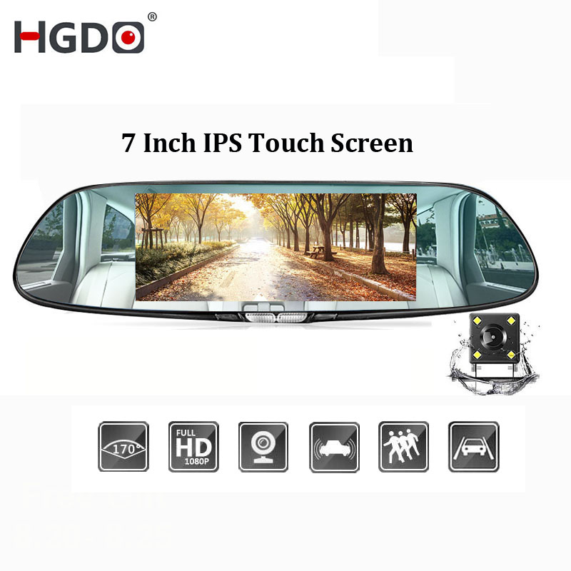 HGDO Car DVR Camera Video-Recorder Dash-Cam Auto-Registrator Dual-Lens Full-Hd Touch
