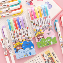 Highlighters Stationery Milkline Art-Markers Writing-Supplies Multicolor Kawaii Craft