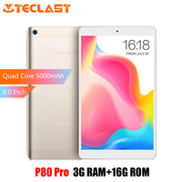 Teclast P80 Pro Tablet PC 8.0 Inch Full HD Android 7.0 3GB RAM 16GB eMMC ROM MTK8163 Quad Core Dual Brand WiFi HDMI GPS 5000mAh